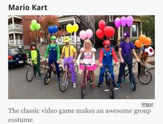 Cute. Mario cart costumes.