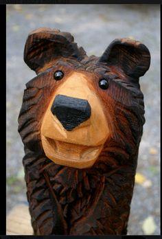CArved bear by Jeff Gottfried