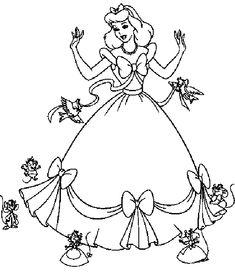 Omalovánky princezny k vytisknutí