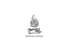 Logos — the Design Office of Matt Stevens - Direction + Design + Illustration Phrase Tattoos, Tattoo T Shirts, Tatoos, Animal Meanings, Greek Mythology Tattoos, Flame Tattoos, Fire Tattoo, Tattoo Project, Black And White Drawing