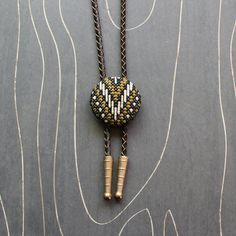 Mountain Cross Stitch Bolo Tie by TheWerkShoppe on Etsy, $44.00