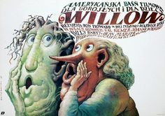 Willow | 45 Amazing Vintage Polish Posters Of Classic American Films Artist: Wieslaw Walkuski Year: 1989