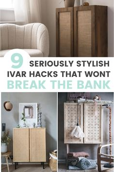 The IKEA IVAR cabinet is a versatile, and quality piece of furniture with endless potential for upcycling. Check out these 9 stylish IVAR cabinet hacks Ikea Toy Storage, Storage Hacks, Diy Furniture Projects, Ikea Furniture, Painted Furniture, Diy Projects, Refinished Furniture, Furniture Makeover, Woodworking Projects