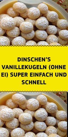 INGREDIENTS: Dinschen's vanilla balls (without egg) 250 g soft butter 300 g flour 1 level teaspoon b Biscotti Cookies, Dessert Blog, Second Breakfast, No Bake Cookies, Four, Cookie Decorating, Food Inspiration, Super Easy, Cornwall