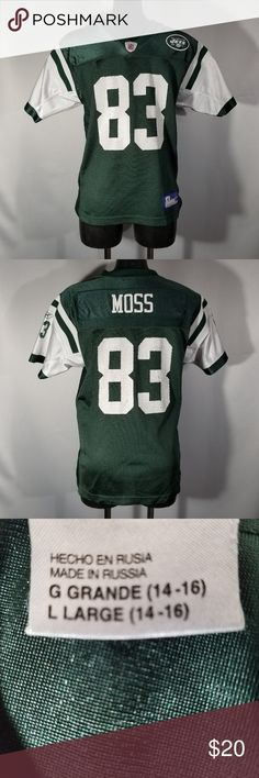 ea09bf29e Reebok New York Jets Santana Moss Jersey New York Jets Santana Moss Jersey  Pre Owned Excellent