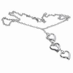 Náhrdelník West Side z chirurgické oceli se srdíčky West Side, Silver, Jewelry, Jewlery, Jewerly, Schmuck, Jewels, Jewelery, Fine Jewelry