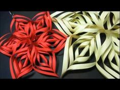 DIY paper snowflakes. If you make it with smaller pieces of shiny/metallic papers, it will be great for a frugal tree ornament. Extra idea: To make a homemade wreath, use matte green paper and use only three pieces for each 'flake', connect 3-flakes together in a continous round...ta daaaa, wreath!
