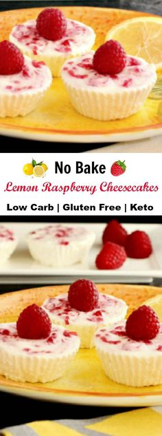 Lemon Raspberry no bake Cheesecake Bites, crust free, primal and low carb
