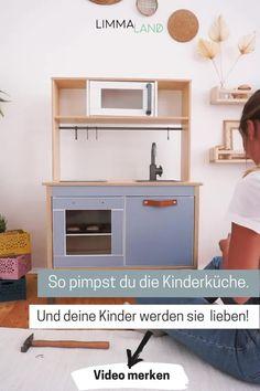 Baby Bedroom, Room Decor Bedroom, Diy Room Decor, Bedroom Ideas, Home Decor, Preschool Layout, Ikea Duktig, Wooden Play Kitchen, Ikea Hacks