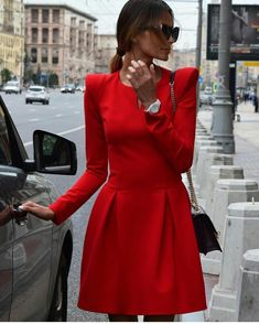 Perfect red dress by Yulia Wave.