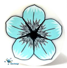 Turquoise gray flower cane | Flickr - Photo Sharing!