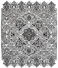 'Daedalian ll' lino print with gold leaf. By Jess Winch