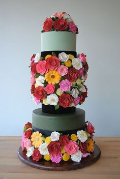 Charm City Cakes West #colorful #flowers #cake