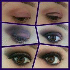 Purple make-up step by step