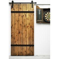Dogberry Drawbridge 82 Inch Barn Door (Dark Chocolate Stain), Brown