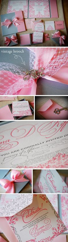 invitations. Love the swirls and overall look of these!