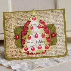 Christmas card by Betsy Veldman for Papertrey Ink (September 2011).