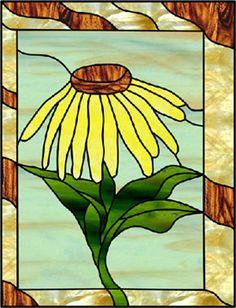 Stained Glass Patterns :: Daisy Flower Pattern ::