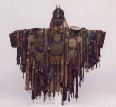 """Traditional shaman's cloak, Central Asia"" Larp, Textiles Y Moda, Les Religions, Cloak, Tibet, Art Dolls, Character Design, Pagan, Objects"