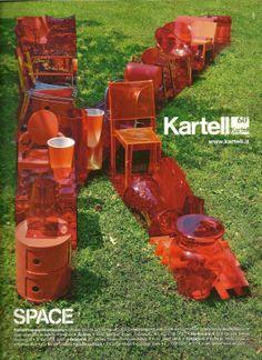 #Orange vision, orange furniture ad from Kartell