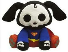 Skelanimals DC Heroes Collection: Dax(Dog) As Superman Plush Doll