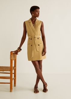 Vestido textura solapas