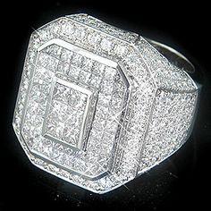 very high end diamond rings   ... high end diamond ring 9 3ct pin it this massive 14k gold men s diamond