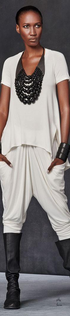 Donna Karan - Urban Zen FW 2015 women fashion outfit clothing style apparel @roressclothes closet ideas