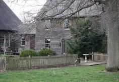 Love the exterior look. Colonial House Exteriors, Colonial Architecture, English Architecture, Abandoned Houses, Old Houses, Gray Houses, Gloucester House, Future House, My House
