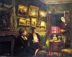 Perfect Harmony, huile sur toile de Edouard Vuillard (1868-1940, France)