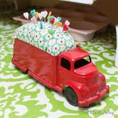 Vintage Toy Truck Pin Cushion by constance.damploather