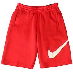 Nike Club Exploded Swoosh Short Mens 633523-658 Red Training Shorts Size M