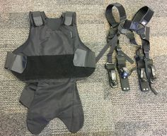 Body armor and suspender system.