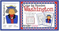 FREE Color by Number George Washington page from Kinder-Craze