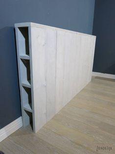 Diy Storage Headboard, Headboard Ideas, Headboards, Home Bedroom, Bedroom Decor, Home Furniture, Furniture Design, Wood Beds, Diy Bed