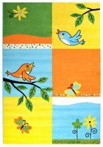 Kinderkleed Bambino Birds Oranje/Geel Laagpolig Tapijt - 160x230cm