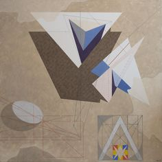 "Herbert Bayer, Geometric Scheme II, Acrylic on canvas, 1961-4, 70"" x 70""  We're thrilled about this new, gorgeous Bayer painting!"