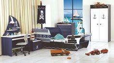 Aranżacja pokoju chłopca, piraci - Nasze4katy.net Toddler Bed, Furniture, Home Decor, Child Bed, Decoration Home, Room Decor, Home Furnishings, Home Interior Design, Home Decoration