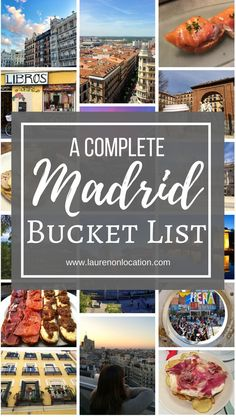 Here's the Madrid Bucket List that you've been waiting for! madridfoodtour.com
