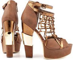 Michael Antonio 'Townsend' Net Platform Sandals