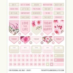HP Printable MAMBI Planner Stickers Happy Planner Stickers | Etsy Mambi Stickers, Printable Planner Stickers, Planner Tips, Happy Planner, I Choose Happy, Calendar Notes, Types Of Planners, Plum Paper Planner, Planner Organization