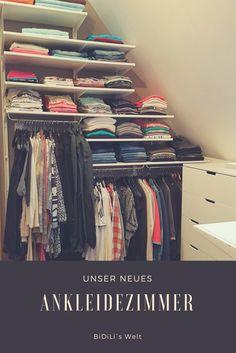 Unser neues Ankleidezimmer, Ikea, DIY, begehbarer Schrank, Dachschräge, Kleiderschrank