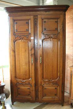 armoire style louis xv grillag e et repeinte en gris virgin pinterest armoires. Black Bedroom Furniture Sets. Home Design Ideas