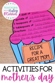 Mother's Day Crafts, Printables, and Activities: This packet is FULL of activities to celebrate the important women in your students' lives! You'll find crafts, writing pages, coloring pages, coupons, and more for your students to give to their moms! I also included options for aunts, grandmas, teachers, and blank for students who aren't in traditional living situations. | First Grade Resources | Printable Lesson Plans | Elementary Curriculum