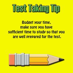 Tips for preparing for a test?