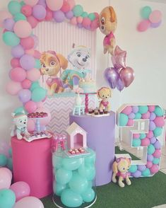 3 year old theme parties for girls 3 year old theme parties for girls 3 year old theme parties for girls<br> Girl Paw Patrol Party, Paw Patrol Birthday Girl, Sky Paw Patrol, 3rd Birthday Party For Girls, Girl Birthday Themes, Birthday Ideas, Paw Patrol Party Decorations, Theme Parties, Threenager