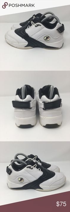 56f700402fc Shop Kids  Reebok White Black size Sneakers at a discounted price at  Poshmark. Description  Reebok Allen Iverson Answer 5 V Black Leather  Basketball Shoes ...