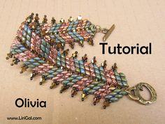 Olivia Superduo Twin Beadwork Bracelet PDF Tutorial by Lirigal