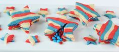 4th of July star (pinata) cookies