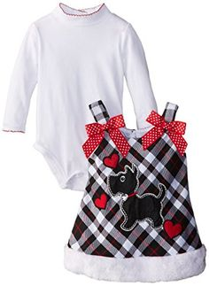 Youngland Baby-Girls Infant Plaid Dress with Scottie Dog Applique and Knit Bodysuit, White/Black/Red, 18 Months Youngland http://www.amazon.com/dp/B00MCGOS4E/ref=cm_sw_r_pi_dp_Zq5Kub1NHK8XQ